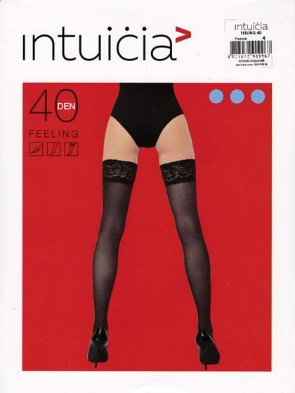 Intuicia Feeling 40 Den женские чулки средней плотности с кружевной резинкой на силиконовой основе
