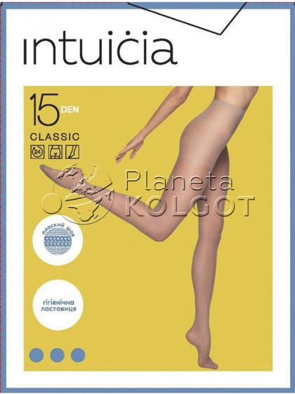 Intuicia Classic 15 Den тончайшие колготки с шортиками