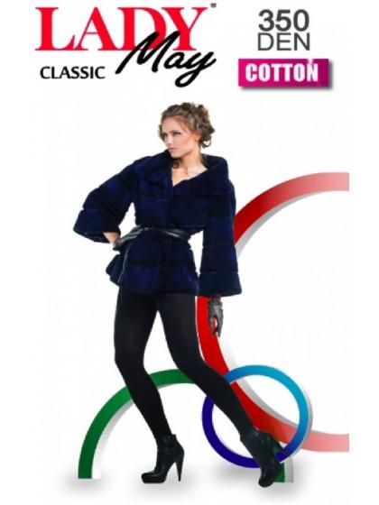 Lady May Cotton 350 Den хлопковые колготки