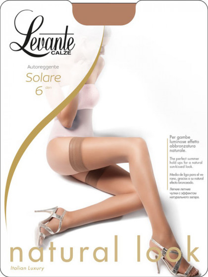 Levante Solare 6 Den Autoreggente тончайшие летние чулки