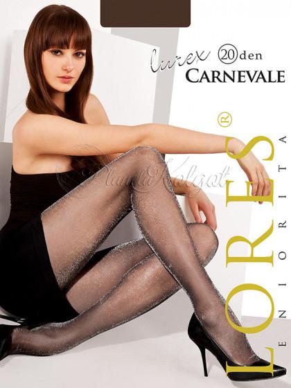 Lores Carnevale 20 Den Lurex женские тонкие фантазийные колготки с люрексом
