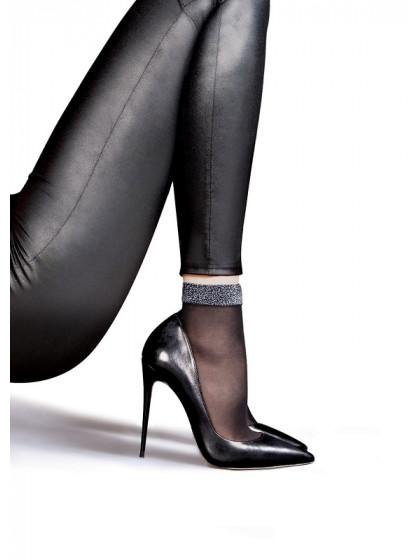Lores Cometa капроновые носки с люрексом