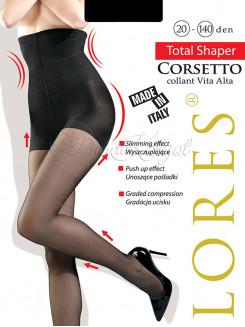 Lores Corsetto 20-140 Den Collant Vita Alta