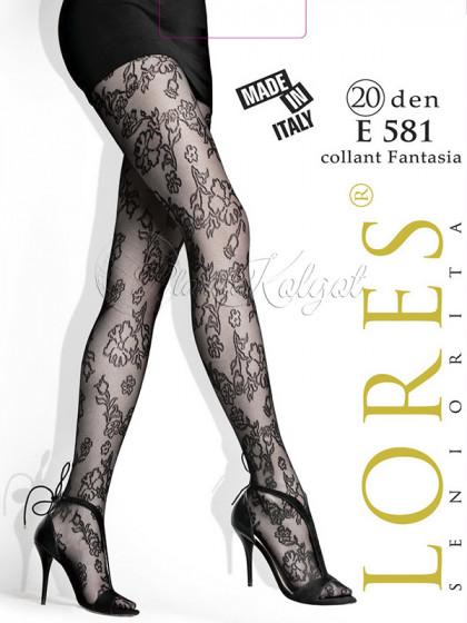 Lores E581 женские фантазийные тонкие колготки с рисунком