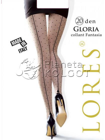 Lores Gloria женские фантазийные колготки со швом
