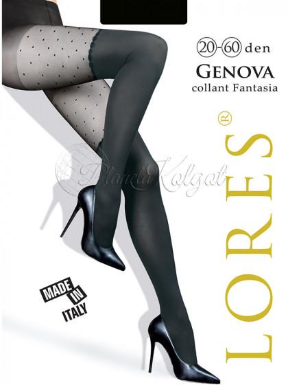 Lores Genova женские фантазийные колготки с имитацией чулок