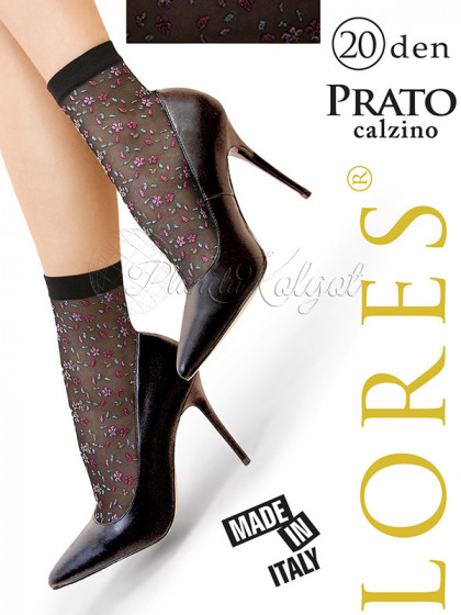 Lores Prato Calzino женские носочки с цветочным узором