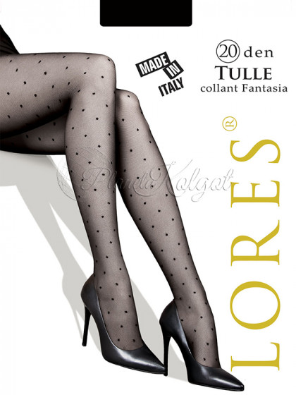 Lores Tulle 20 Den женские фантазийные колготки с узором