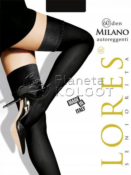 Lores Milano 60 Den Autoreggente женские чулки из микрофибры