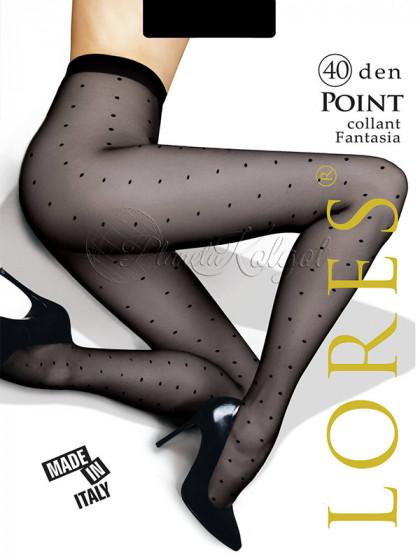 """Lores Point 40 Den женские колготки с узором """"в точку"""""""