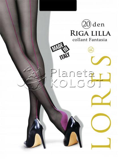 Lores Riga Lilla колготки с имитацией шва сзади