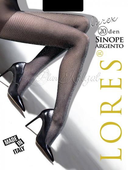 Lores Sinope Lurex 20 Den Argento женские фантазийные колготки с люрексом