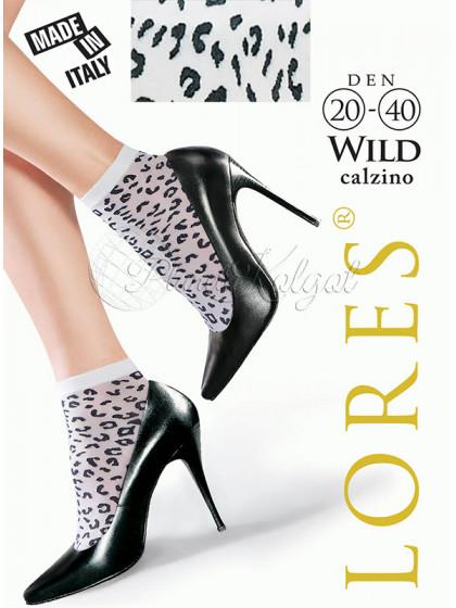 Lores Wild Calzino женские капроновые носочки с леопардовым принтом