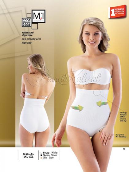 M'I 2008 женское корректирующее белье: трусы с высокой талией