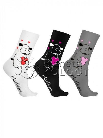 Marilyn SC Tedy Love женские фантазийные носки из высококачественного хлопка с принтом