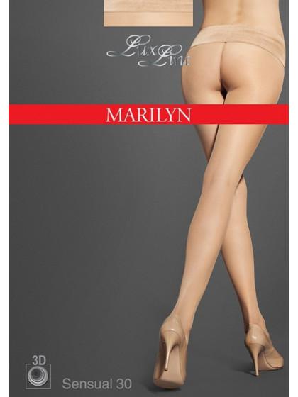 Marilyn Sensual 30 Den бесшовные классические женские колготки с поясом на силиконовой основе