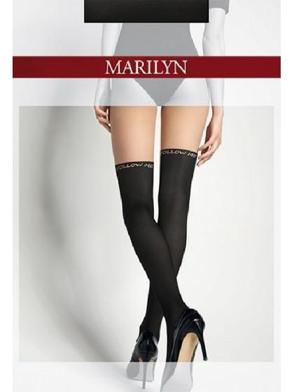 Marilyn Zazu Follow Me фантазийные колготки с имитацией чулок