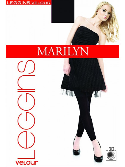 Marilyn Leggins Velour 180 Den теплые леггинсы для женщин из микрофибры с эффектом велюра