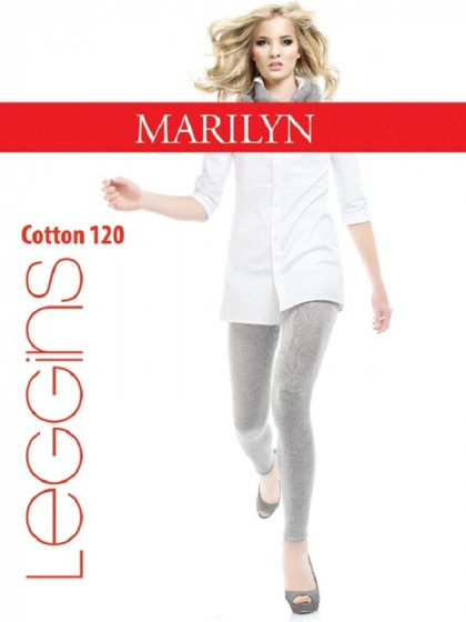 Marilyn Cotton 120 Den Leggins хлопковые облегающие теплые леггинсы с эффектом меланж