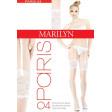Marilyn Paris Model 04 тонкие женские чулки под пояс из Lycra