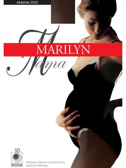 Marilyn Mama 100 Den зимние классические теплые колготки для беременных на завышенной талии