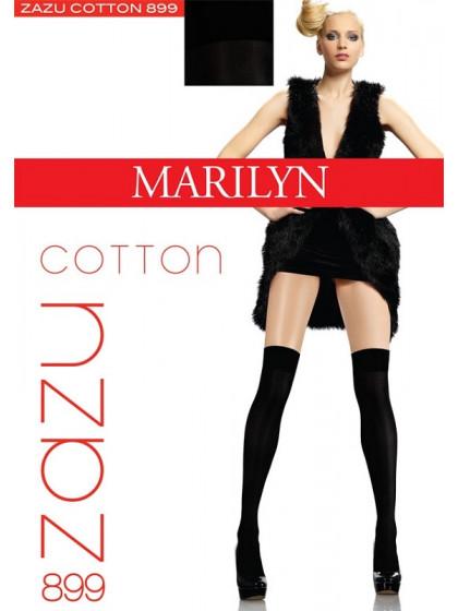 Marilyn Zazu Cotton Model 899 теплые женские матовые ботфорты с 3D плетением нити из высококачественного хлопка