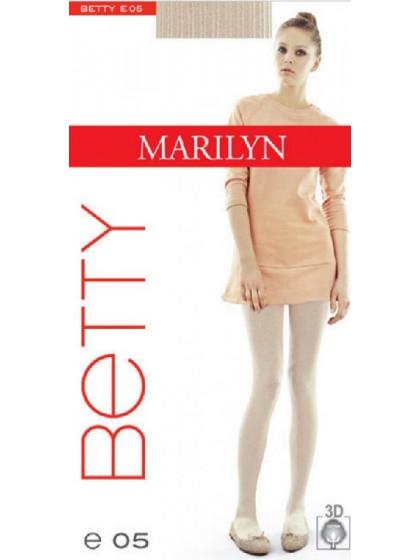 Marilyn Betty E05 теплые женские колготки из высококачественного хлопка с фантазийным рисунком