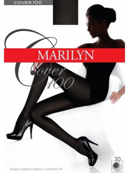 Marilyn Cover 100 Den зимние классические теплые колготки из микрофибры, без шорт