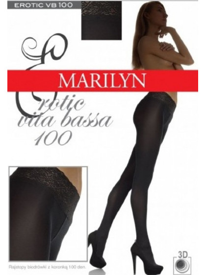 Marilyn Erotic 100 Den Vita Bassa женские колготки из мягкой микрофибры с низкой талией