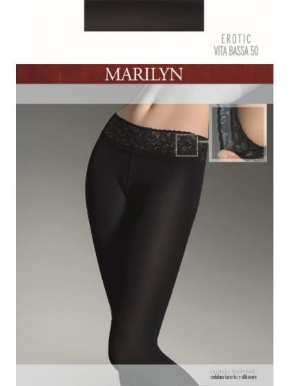 Marilyn Erotic 50 Den Vita Bassa классические колготки из микрофибры на заниженной талии