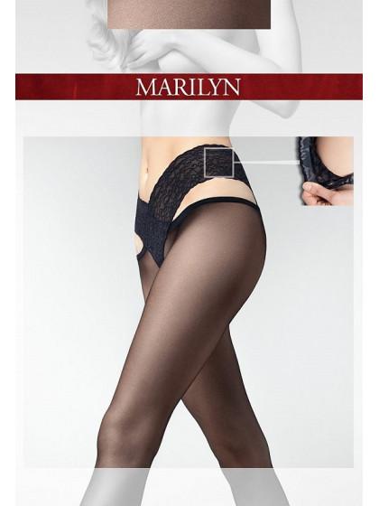 Marilyn Erotic K07 женские тонкие колготки из лайкры на заниженной талии