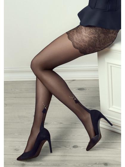 Marilyn Gucci G30 фантазийные женские колготки с имитацией шва сзади