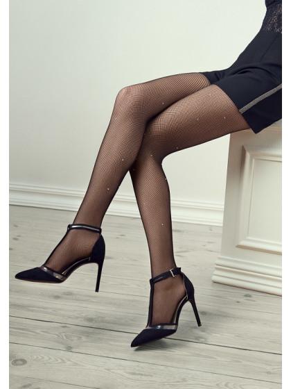 Marilyn Gucci G34 сетчатые женские колготки в мелкую сеточку