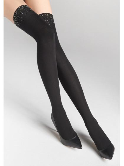 Marilyn Zazu L23 теплые женские ботфорты с россыпью блесток на резинке