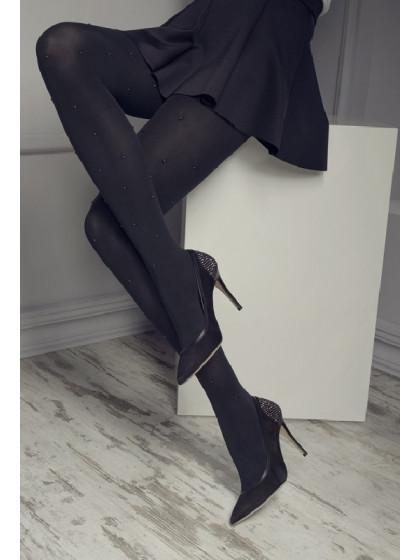 Marilyn Gucci G11 женские фантазийные колготки из микрофибры со стразами