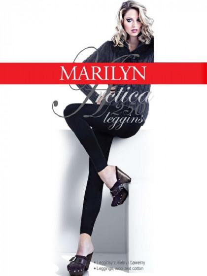 Marilyn Arctica 250 Den Leggings теплые классические облегающие леггинсы из высококачественного хлопка и шерсти с махрой внутри