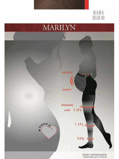 Marilyn Mama Relax 40 Den женские колготки средней плотности для беременных на завышенной талии