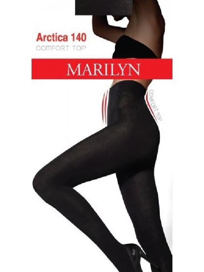Marilyn Arctica 140 Den Top Comfort теплые классические женские колготки из хлопка с завышенной талией