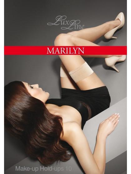 Marilyn Make-Up Hold-Ups 10 Den тончайшие женские классические чулки