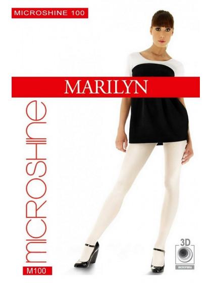Marilyn Microshine 100 Den женские колготки с 3D плетением нити из микрофибры с эффектом блеска