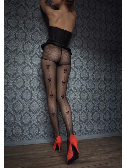 Marilyn Gucci G41 фантазийные женские тонкие колготки с имитацией шва сзади и рисунком