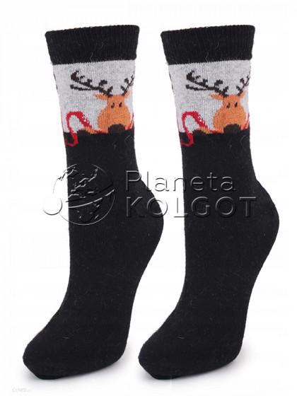 """Marilyn Angora No Terry N30 женские классические носки с принтом """"олень"""""""