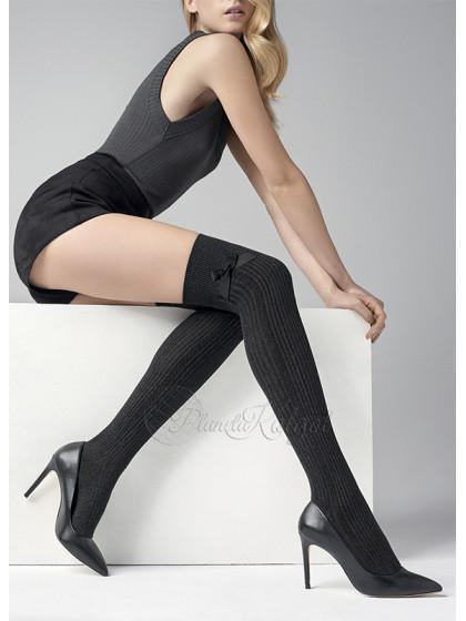 Marilyn Zazu N99 женские теплые хлопковые ботфорты с объемным рисунком