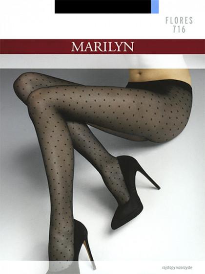 Marilyn Flores 716 женские тонкие колготки с фантазийным узором в горошек