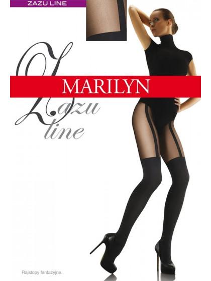 Marilyn Zazu Line 60 Den женские фантазийные колготки с имитацией чулок под пояс