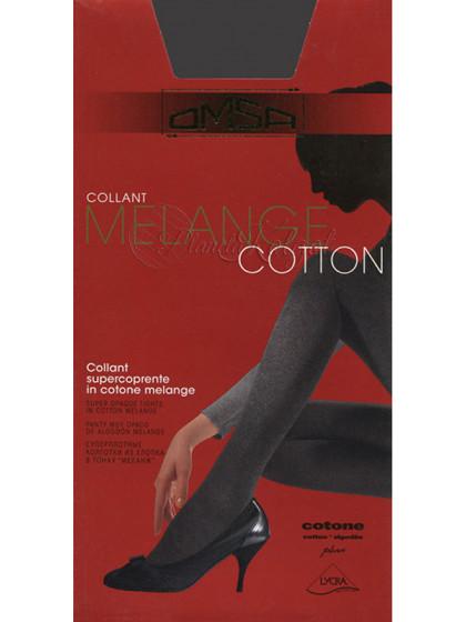 Omsa Melange Cotton женские теплые меланжевые колготки