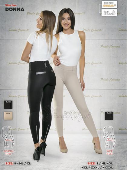 Paulo Connerti Donna женские моделирующие леггинсы (лосины) с утягивающим эффектом