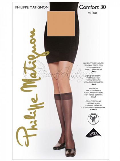 Philippe Matignon Comfort 30 Den Mi-Bas женские капроновые гольфы