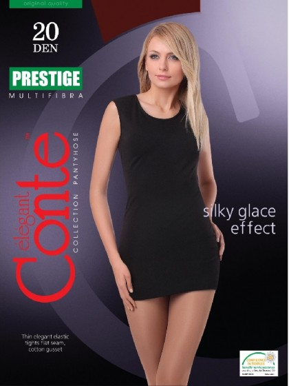 Conte Prestige 20 Den женские классические тонкие колготки без шорт
