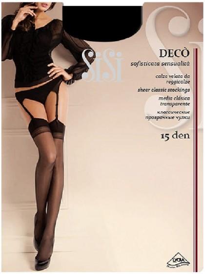 Sisi Deco 15 Den женские тончайшие чулки под пояс